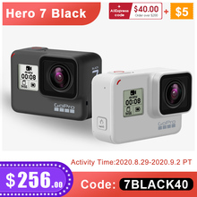 GoPro بطل 7 أسود الغسق الأبيض مقاوم للماء عمل كاميرا الترا HD 4K 60fps فيديو الذهاب برو بطل 7 واي فاي الرياضة كام 12MP صور لايف