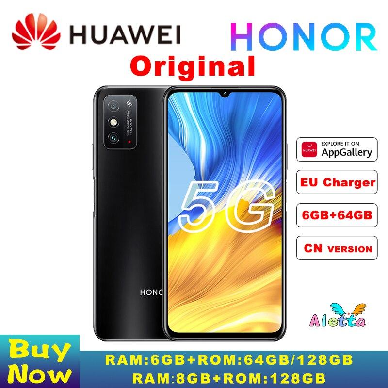 Original HONOR X10 Max 5G SmartPhone 7,09 zoll Großen Bildschirm MT6873 Octa Core 22,5 W Aufzurüsten multi-tasking fack entsperren