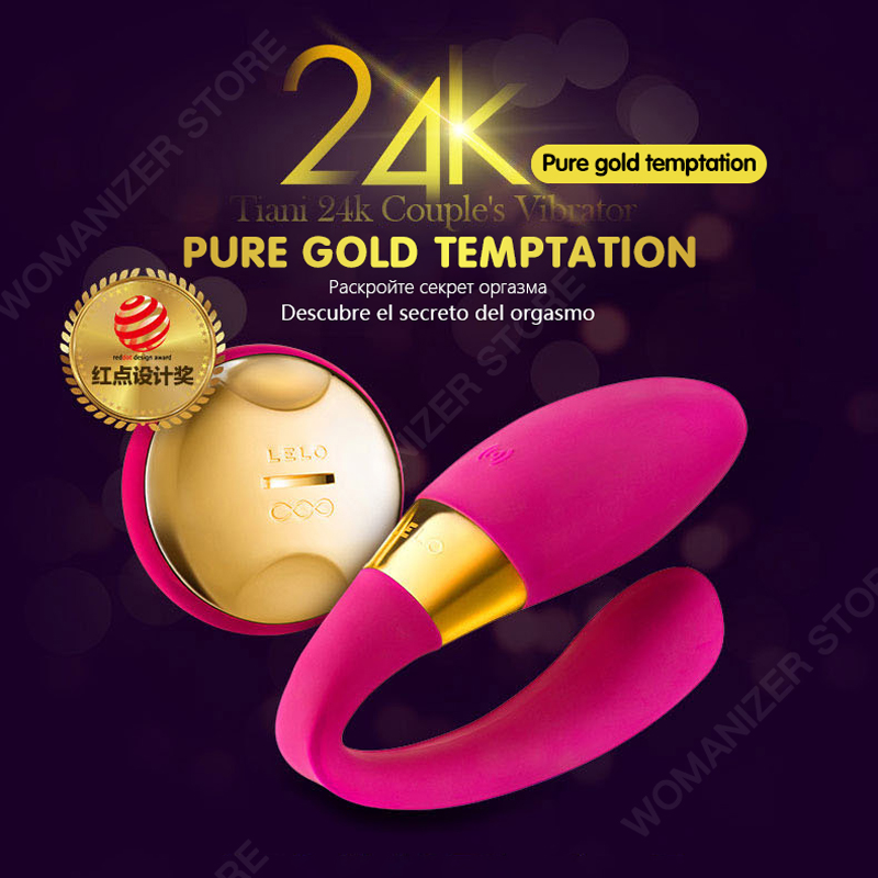 Lelo 24k Pure Gold Silicone G-spot Dildo Female Vibrator Couple Sexual Pleasure Massager Adult Toys