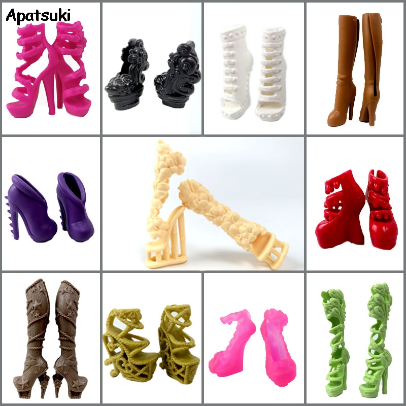 1pair <font><b>Shoes</b></font> For <font><b>1/6</b></font> Monster High <font><b>Dolls</b></font> High Heel <font><b>Shoes</b></font> <font><b>Dolls</b></font> Accessories Booties For 1:6 Demon Monster <font><b>Dolls</b></font> Kid Toy image