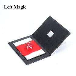 Dice através do espelho truques mágicos sólido através magie magie mágico close-up adereços mentalismo engraçado