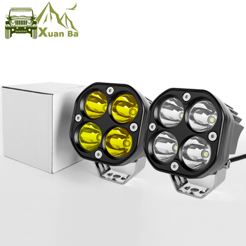 цена на 2Pcs 3 Inch Led Work Light 12V 24V For Car 4x4 Offroad Motorcycle Trucks Tractors Boat 4WD ATV SUV Driving Fog Lights Spotlight