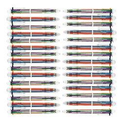 Długopis chowany długopisy cienkie końcówki gładkie pisanie łatwe przełączanie kolorów 30 Pack 6 In 1| |   -