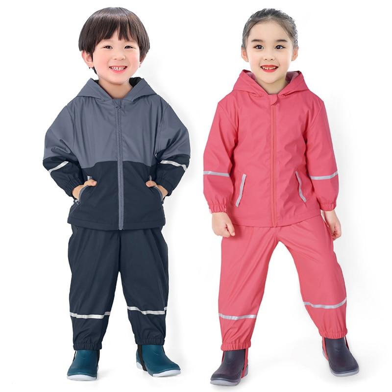 Waterproof Fleece Kids Jackets for Girls Rain Boys Winter Jacket Warm Sport Children Outerwear Outdoor Toddler Playsuits Clothes
