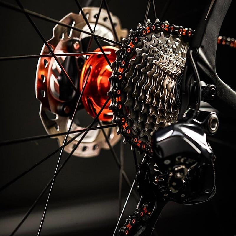KMC X10 10-speed 116L MTB Road Bike 1//2/'/' x 11//128/'/' Chain Pink x Silver