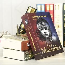 Vários livros de simulação mini seguro escondido bloqueio de segurança caixa de dinheiro moeda de armazenamento de jóias gabinete chave presente das crianças dinheiro