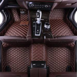 Leather Custom Auto car floor Foot mat For Renault Duster 2013 2014 2015 2016 2017 2018 Custom auto foot Pads automobile carpet(China)