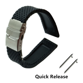 Quick Release Silicone Rubber Watchband 18mm 20mm 22mm 24mm for Jacques Lemans Strap Wrist Belt Bracelet image