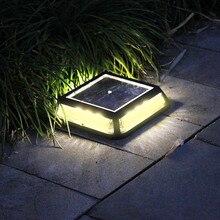 12 Светодиодный квадратный солнечный светильник для дома и сада, наземный светильник на солнечной энергии, светильник для улицы, садовый настил, светильник для газона