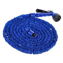 25FT-200FT wąż ogrodowy rozbudowy elastyczne węże z tworzywa sztucznego fajka wodna z opryskiwaczem do samochodu podlewanie ogrodu