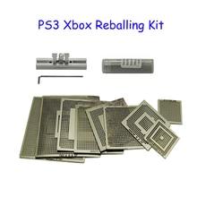 BGA Kit 9PCS Xbox PS3 Reballing Stencils + 1 Bottle 0.6mm 25K Solder Ball 1PC Direct Heated Station
