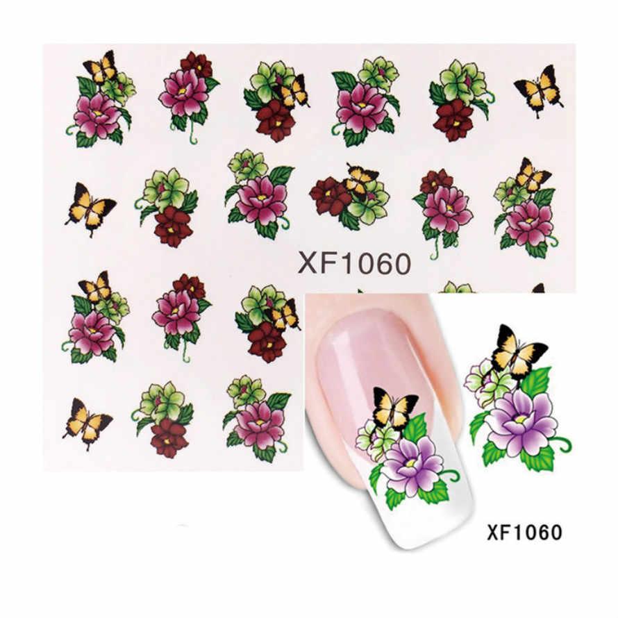1 Pcs Nero Rosa Fiori di Farfalla Del Chiodo Gel Polish Manicure Semi Permanente di UV LED Gel Per Unghie Soak Off Unghie artistiche Gel nail Polish