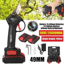 98VF Cordless Pruner Electric pruning shears Efficient Fruit Tree Bonsai Pruning Electric Tree Branches Cutter Landscaping Tools