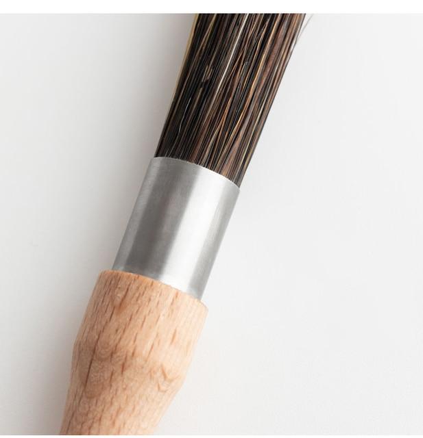 wooden handle cleaning brush bristles Coffee grinder cleaning brush Desktop brush cafe bar household coffee brush 6