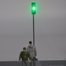 12CM Model Traffic Signal Lights Construction Sand Table Material Miniature Metal Road LED Toys