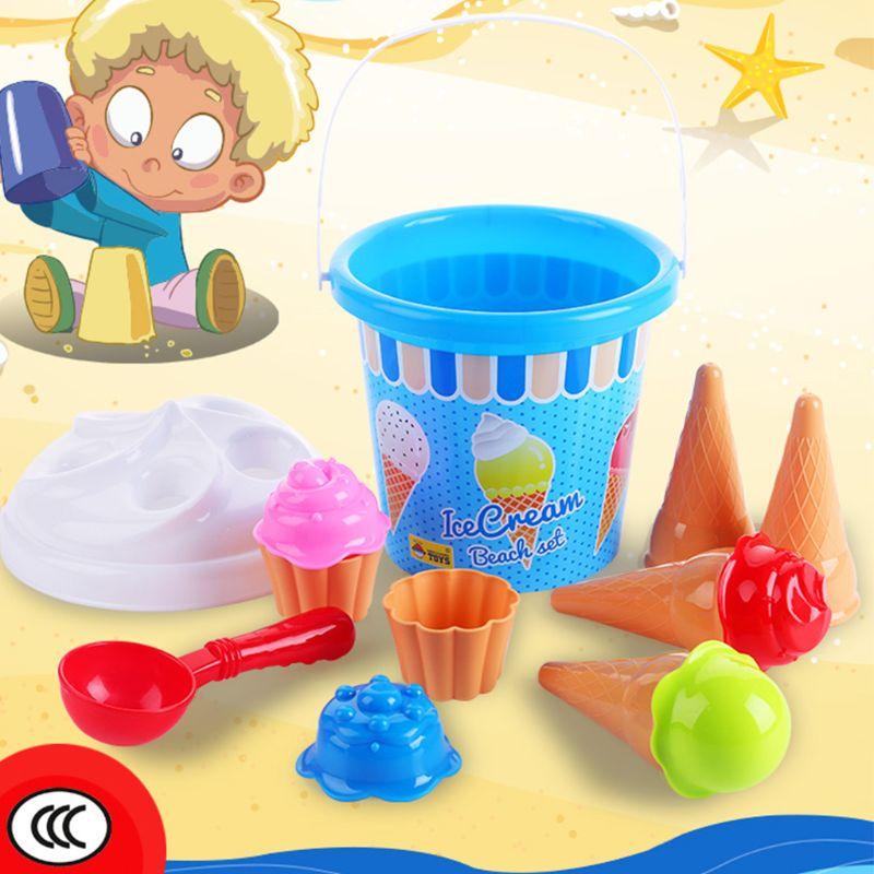 Beach Toys Set Ice Cream And Cake Series Sand Mould Set,13 Piece Toys  Set GXMB