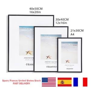 Modern Photo Frame A4 30X40CM Picture Frames Mat Metal Poster Plexiglass Black White Canvas Prints Kids Room Wall Art Home Decor