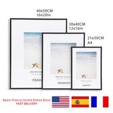 Moderne Wand Foto Rahmen Metall Schwarz Weiß Bilder Rahmen Matte Plexiglas 50x70 40x50 30x40 a4 CM für Poster Drucke Wohnkultur
