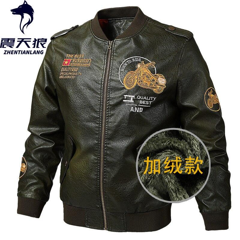 Frontière transfrontalière pour Amazon AliExpress brossé et épais PU veste en cuir hommes épais manteau hommes fabricants vente directe