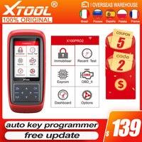 XTOOL-lector de código X100 Pro2 obd2, programador automático, lector de códigos de coche, escáner de reinicio ECU OBD2, herramientas de coche con varios idiomas