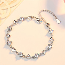New S925 Sterling Silver Ladies Bracelet Jewelry Personality Fashion Lucky Gift