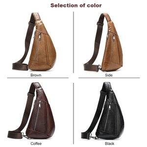 Image 5 - MVA Genuine Leather Bag Mens Crossbody Bag For Men Messenger Bags Men Leather Mens Shoulder/Chest Bags Small Chest Pack 7025