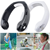 Neue Tragbare Mini Neck Band Fan Doppel Wind Kopf USB Luftkühler Outdoor L9 #2|Elektrowerkzeuge Zubehör|   -
