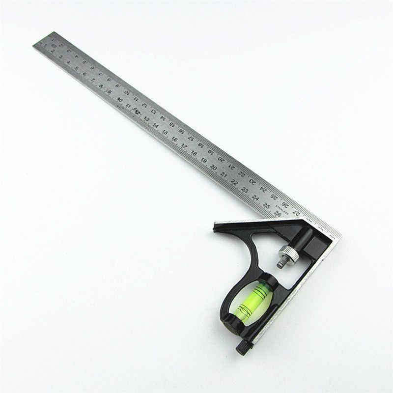 """DIY מדויק נירוסטה מדידת כלים אלומיניום שילוב נייד כיכר סדנת חומרה זווית פלס 12 """"(300mm)"""