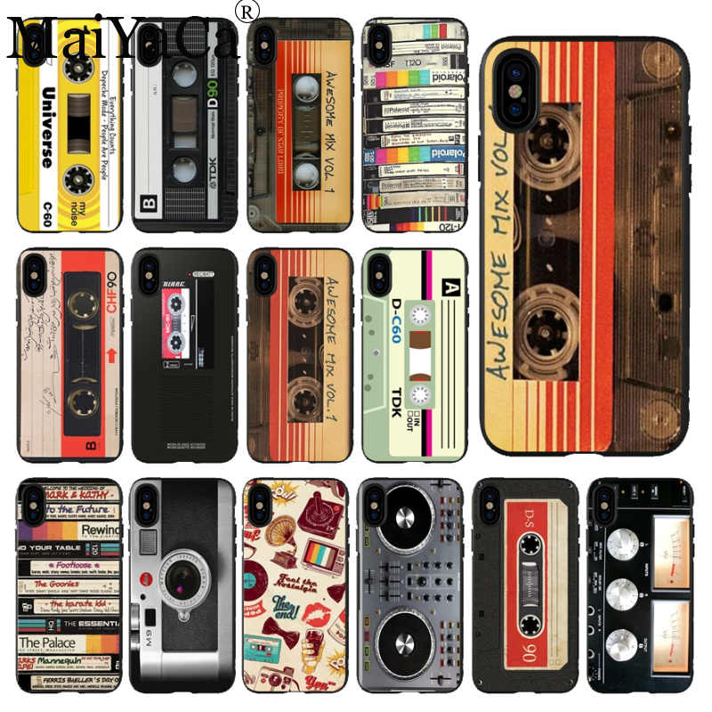 MaiYaCa Mềm Camero Silicone AWESOME MIX VOL MIXTAPE CỔ ĐIỂN CASSETTE Phụ kiện Điện Thoại Cho iPhone SE 5 5S 6 6 S 7 8 Plus XS Max