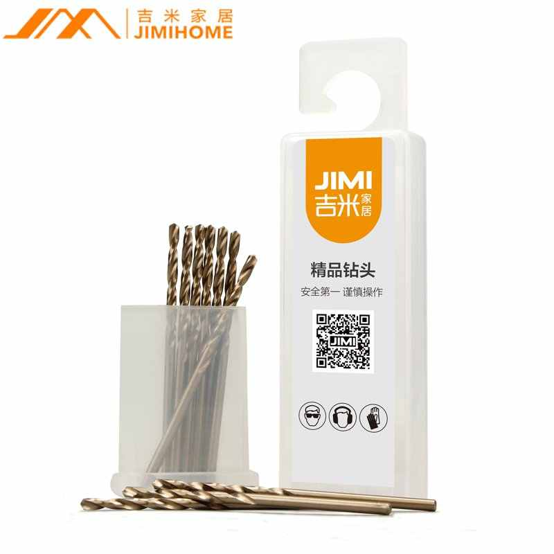JIMI 10Pcs/set 2mm Twist Drill Bit HSS-CO Stainless Steel Cobalt Metal Drilling Auger Bit for Hand DIY Tool Upgrade