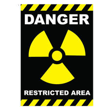 Предупреждающая опасность самоклеящаяся виниловая наклейка для