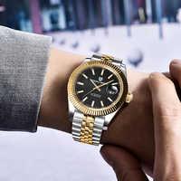 PAGANI Montre mécanique hommes poignet automatique rétro montres hommes étanche noir plein acier Montre horloge Montre Homme newWatch
