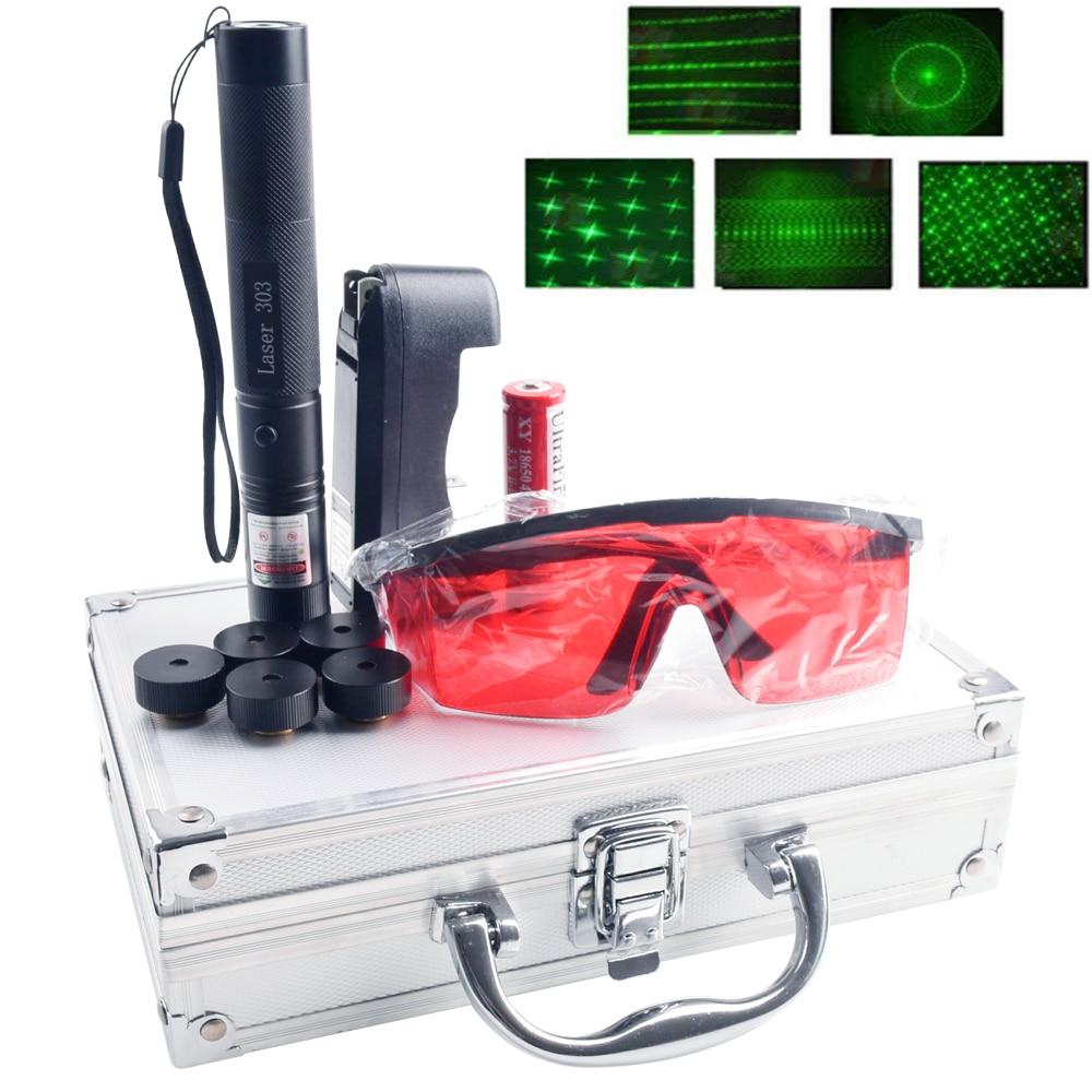 Green Laser Pen 532nm 5mW 303 Laser Pen Five Laser Head Laser Burning Match Hunting Green Point Tactics 532 Nm