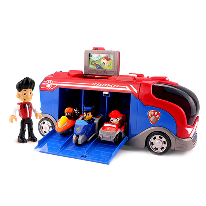 Paw Patrol Toys Set Bus Patrulla Canina Anime Figurine Car Plastic Action Figure Model Children Toy Birthday Party Gifts 3P02