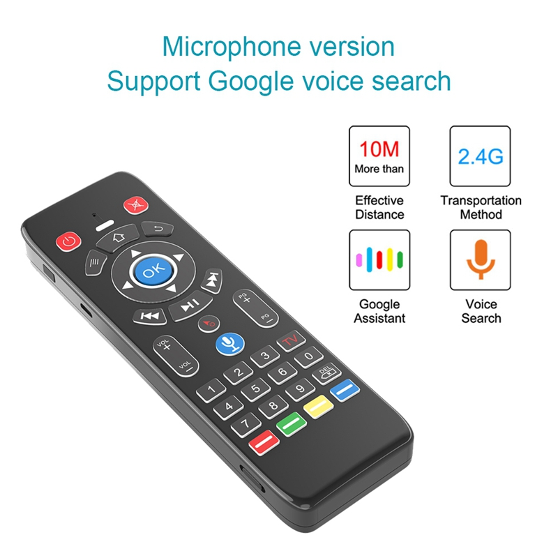 T16 + Stimme Fernbedienung 2,4 GHz Wireless-Air Mouse Gyro für Android <font><b>TV</b></font> BOX/Google <font><b>TV</b></font> image