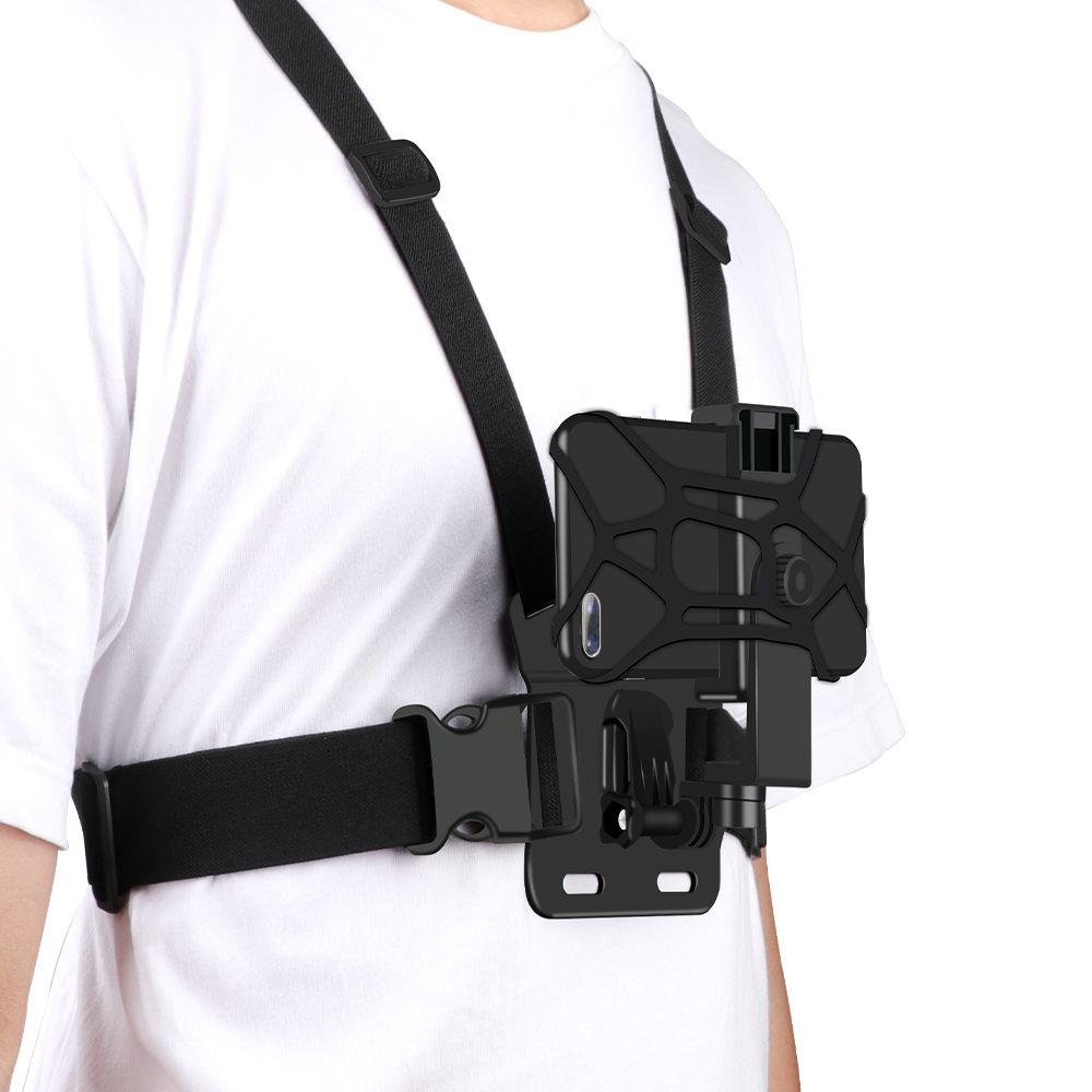 Universal Cell Phone Chest Mount Harness Strap Holder Mobile Phone Clip for Smartphone POV Video Outdoor GoPro SJCAM YI shooting
