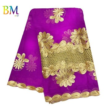 Latest African Women Scarf 100% Cotton Embroidery Muslim splice  Hijab for BK16 - discount item  45% OFF Muslim Fashion