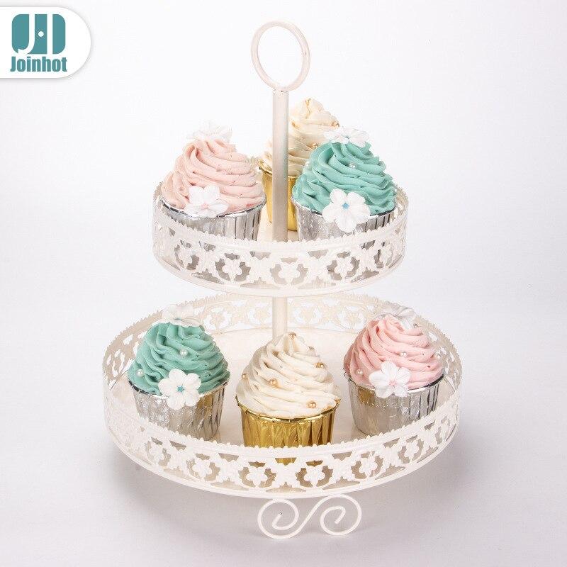 Double gâteau européen rack cupcake mis en place fruits bonbons snack affichage fête de mariage dessert table de noël décoration gâteau stand