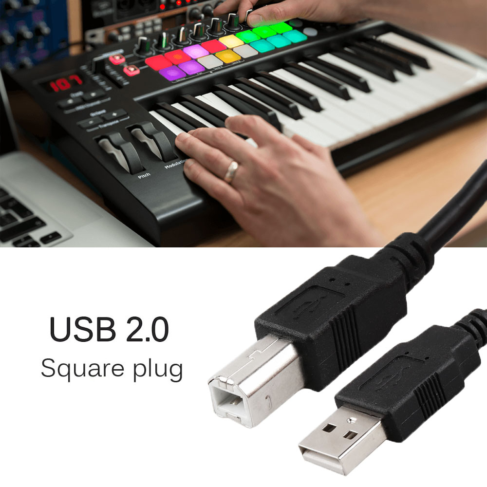 USB A to B cable 1