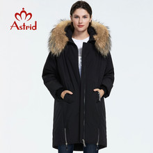 Down-Jacket Loose-Clothing Fur Women Coat Outerwear Thick Winter Cotton Astrid with High-Quality