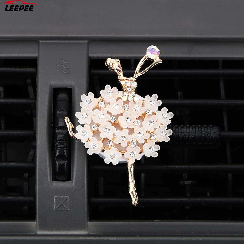 Solid Fragrance High Quality Auto Outlet Air Freshener Car Air Vent Perfume Car-Styling Car Aroma Diffuser Diamond Ballet Girl