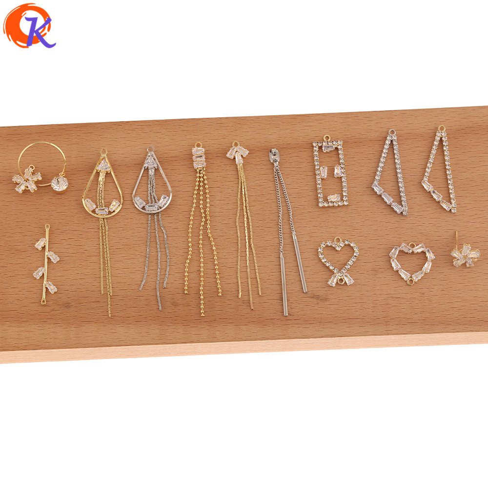Cordial Design 50Pcs DIY Jewelry Making/Hand Made/Rhinestone Claw Chain/Jewelry Findings Component/CZ Earrings Connectors