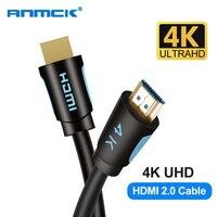 Anmck Cavo HDMI 4K 60Hz 2.0 Versione 0.5m 1m 2m 3m 5m Supporto ARC HDR 3D HDMI Maschio a Maschio Cavo per HD TV Box XBOX PS4 Proiettore