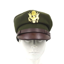 Hat Air-Force-Cap WWII Officer WW2 US with Golden-Color Badge In-Size USAF