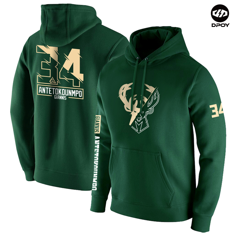 Basketball Hoodies Giannis Bu Hiphop Street-Style Autumn Sports Milwaukee Cotton Original-Design