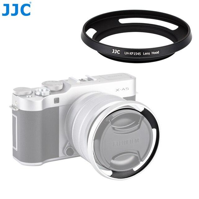 Jjcカメラネジアダプターリング52ミリメートル金属レンズフード用富士フイルムX T100 XC15 45mm f3.5 5.6 ois pzレンズ