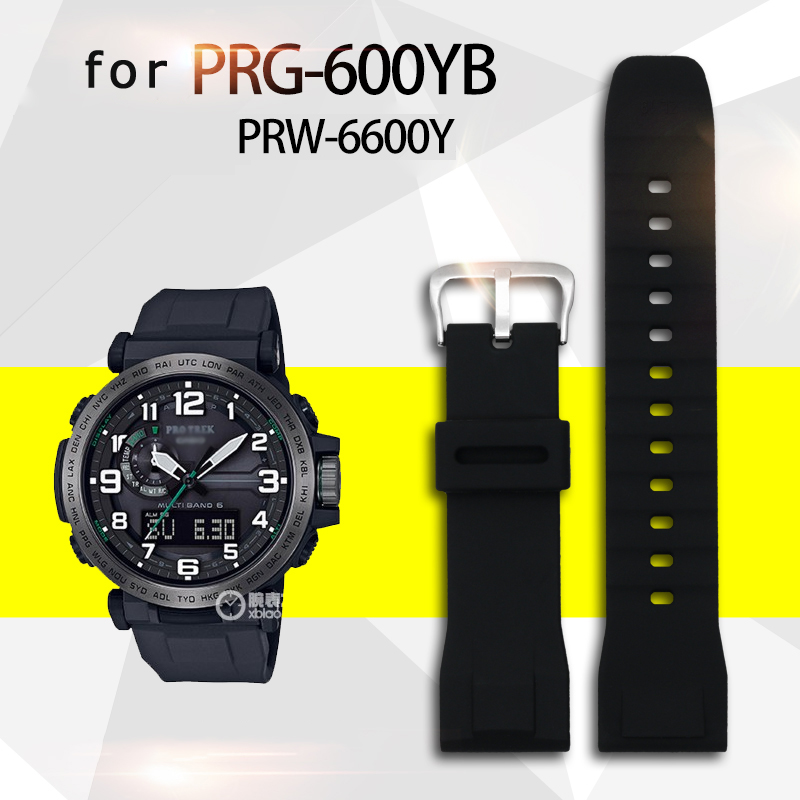 Nylon Silicone Watch Strap For PRW-6600Y PRW-50Y PRW-650 Watchbands Waterproof Sports Strap
