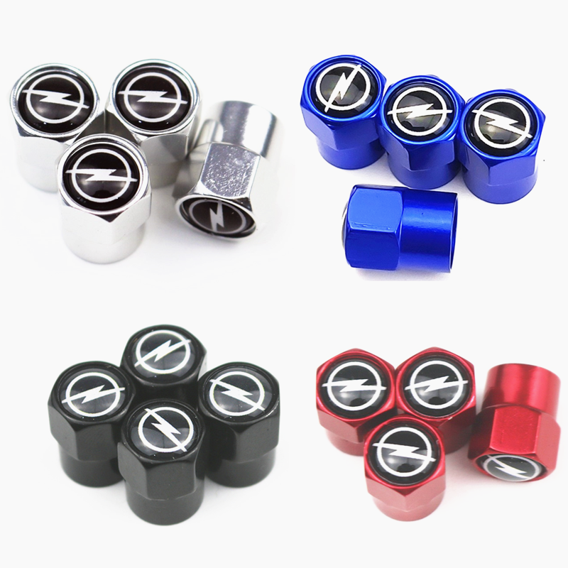 4pcs Metal Wheel Tire Valve Caps Stem Case For OPEL Corsa Insignia Astra Antara Meriva Zafira Car Badge Auto Accessories