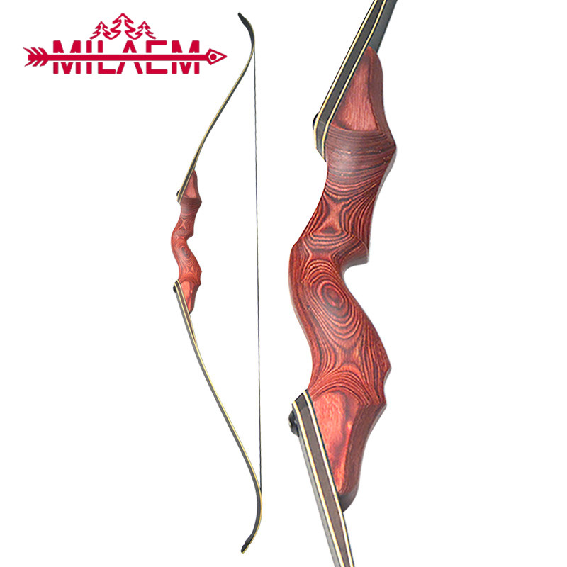 60inch 30/35/40/45/50/55/60lbs Archery Recurve Bow Right /Left Hand Red Handle Shooting Takedown Bow Outdoor Sports Accessories