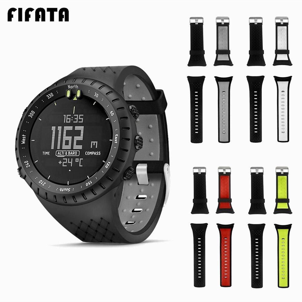 FIFATA Silicone Strap+TPU Cover 2in1 For Suunto Core Case Bracelet Smart Watch Accessories For SUUNTO Core Watchband Wrist Strap